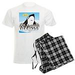 Orca with Penguins Men's Light Pajamas