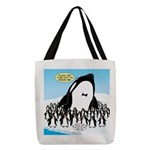 Orca with Penguins Polyester Tote Bag