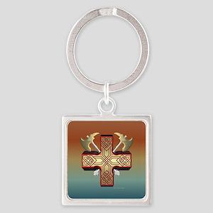 Celt Ax Cross Keychains