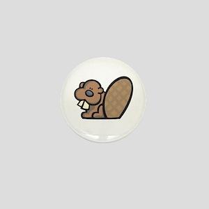 Cute Little Beaver Mini Button
