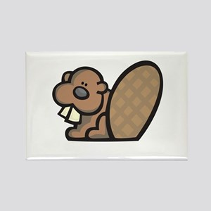 Cute Little Beaver Rectangle Magnet