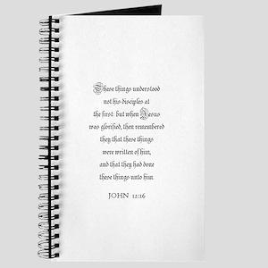 JOHN 12:16 Journal