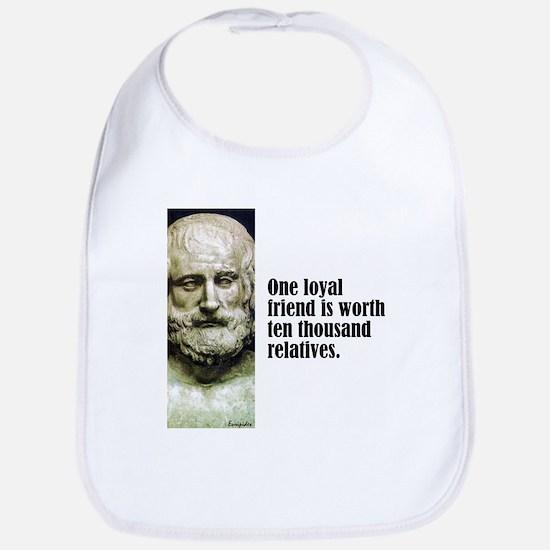 "Euripides ""Loyal Friend"" Bib"