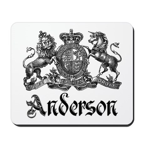 Anderson Vintage Crest Family Name Mousepad