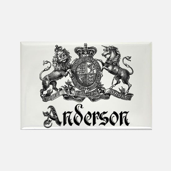 Anderson Vintage Crest Family Name Rectangle Magne