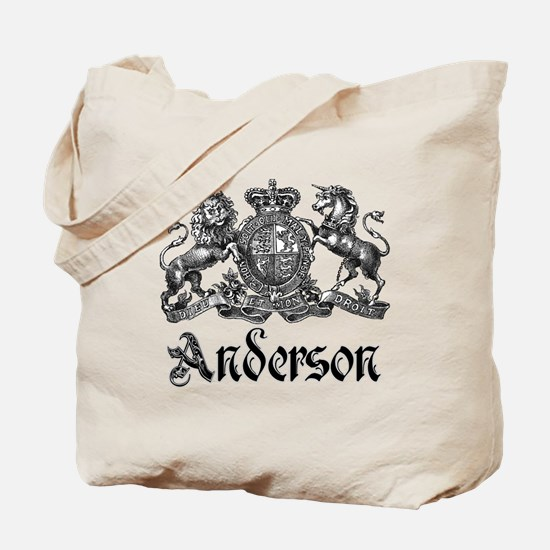 Anderson Vintage Crest Family Name Tote Bag