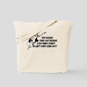 Just Cuz a Guy Reads Comics Tote Bag