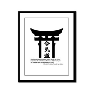 Torii 1 Framed Panel Print