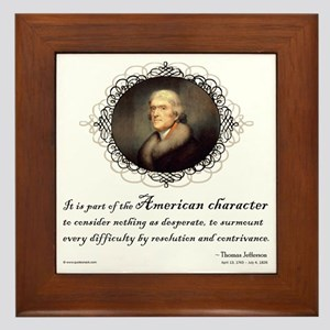 Jefferson Quote: Character Framed Tile