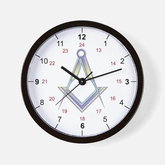 Masonic UK 24 hour Wall Clock
