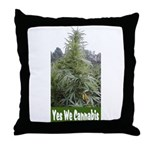 Yes We Cannabis Throw Pillow