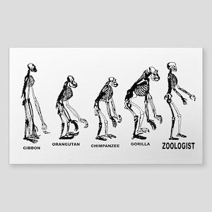 Zoologist Zoology Sticker (Rectangle)