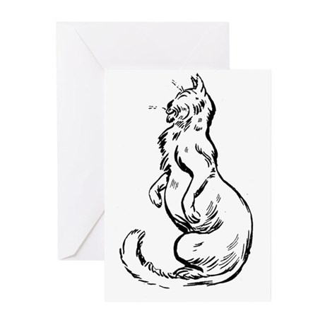 Comfy Kitty Greeting Cards (Pk of 20)