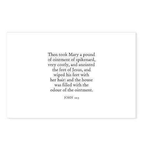 JOHN 12:3 Postcards (Package of 8)