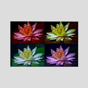 Lotus Flower Art Rectangle Magnet