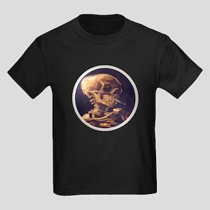 Skull with Cigarette Kids Dark T-Shirt