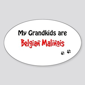 Malinois Grandkids Oval Sticker