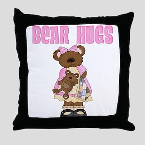 Bear Hugs Throw Pillow