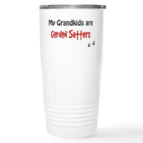 Gordon Setter Grandkids Stainless Steel Travel Mug