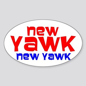 NEW YAWK Oval Sticker