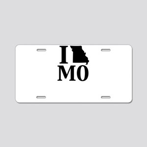 I Heart Missouri graphic he Aluminum License Plate