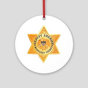 Monterey County Deputy Ornament (Round)