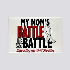 My Battle Too 1 PEARL WHITE (Mom) Rectangle Magnet