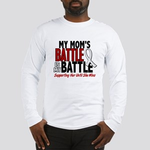 My Battle Too 1 PEARL WHITE (Mom) Long Sleeve T-Sh