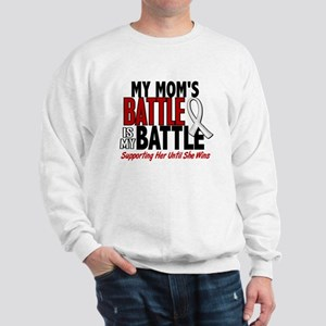 My Battle Too 1 PEARL WHITE (Mom) Sweatshirt