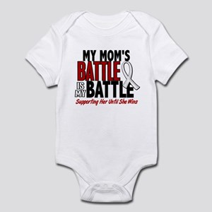 My Battle Too 1 PEARL WHITE (Mom) Infant Bodysuit