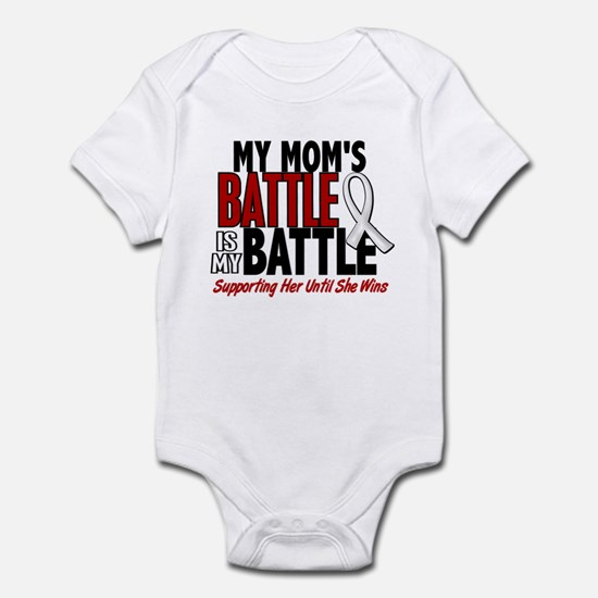 My Battle Too 1 PEARL WHITE (Mom) Infant Bodysuit