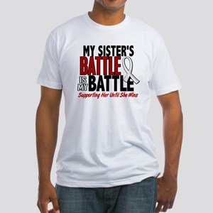 My Battle Too 1 PEARL WHITE (Sister) Fitted T-Shir