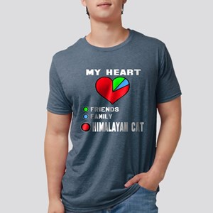 My Heart Friends, Family, H Mens Tri-blend T-Shirt