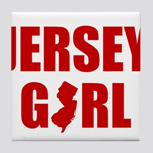 JERSEY GIRL SHIRT Tile Coaster