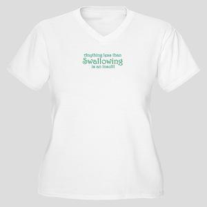Anything Less Women's Plus Size V-Neck T-Shirt