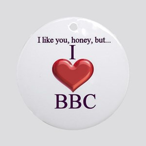 I Love BBC Ornament (Round)