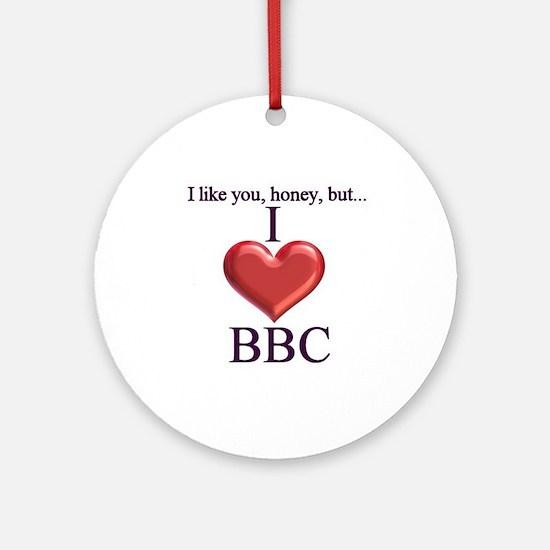 I Love BBC Ornament (Round)