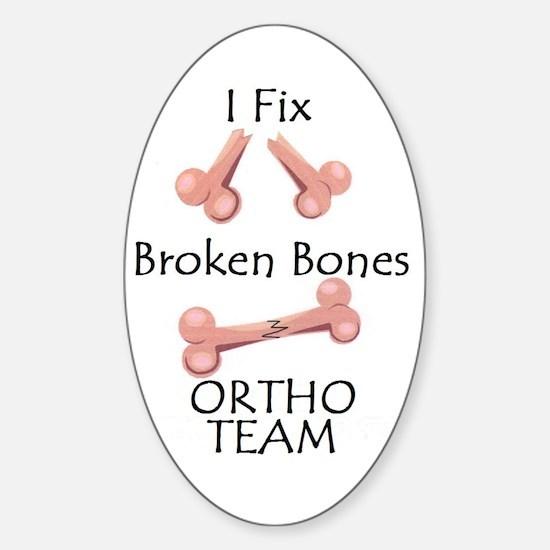 Broken Bone Team Oval Decal