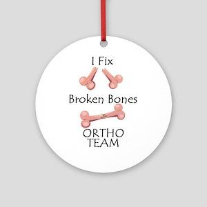 Broken Bone Team Ornament (Round)