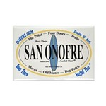 San Onofre Surf Spots Rectangle Magnet (10 pack)
