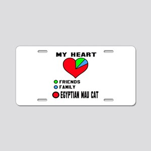 My Heart Friends, Family, e Aluminum License Plate