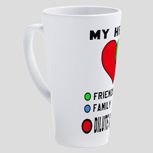 My Heart Friends, Family, Dilute C 17 oz Latte Mug
