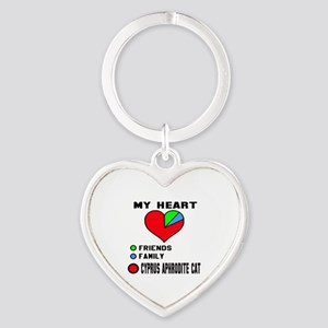 My Heart Friends, Family, Cyprus Ap Heart Keychain