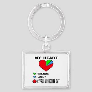 My Heart Friends, Family, Cypru Landscape Keychain