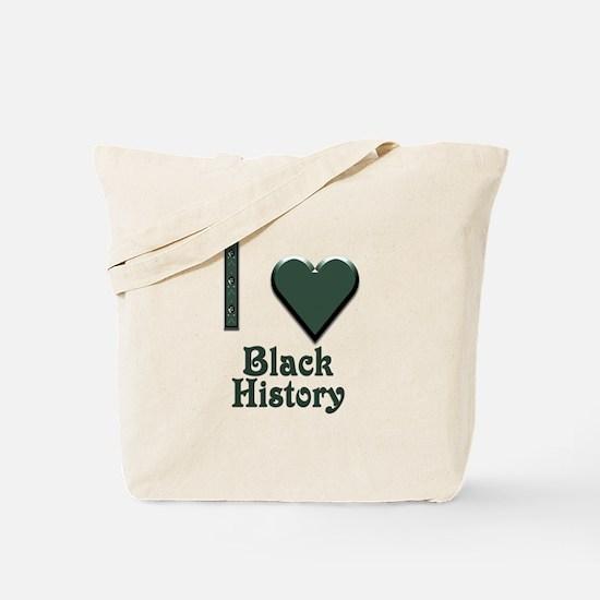 I Love Black History Tote Bag