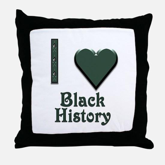 I Love Black History Throw Pillow