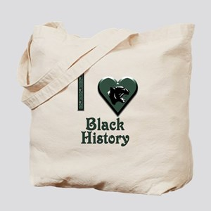 I Love Black History with Black Panther Tote Bag