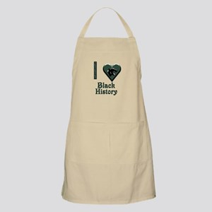 I Love Black History with Black Panther BBQ Apron