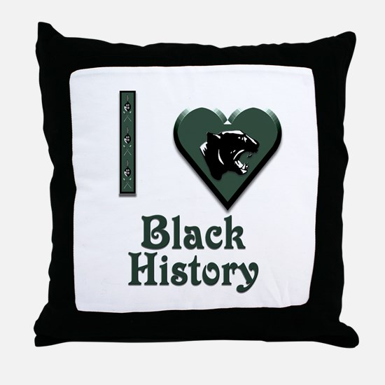 I Love Black History with Black Panther Throw Pill