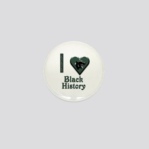 I Love Black History with Black Panther Mini Butto